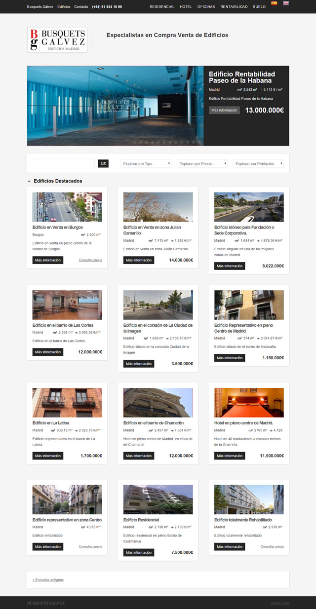 Buildings for sale Madrid