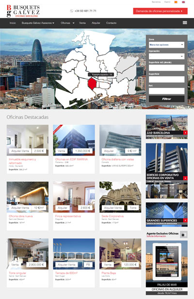 Offices for rent and sale in Barcelona